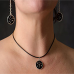 BDSM Triskele Pendant Necklace Leather