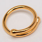 Gold-Plated Nipple Ring Jewelry