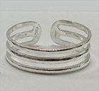 Sterling Silver 3 Bars Toe Ring