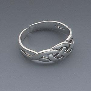Sterling Silver Toe Ring Celtic Knot Design