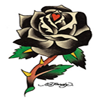 Ed Hardy Black Rose Temporary Tattoo, Sexy Day of the Dead