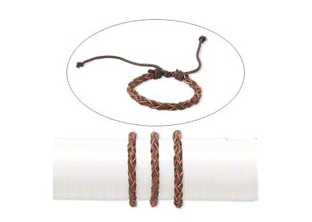 Brown Braid Leather Bracelet